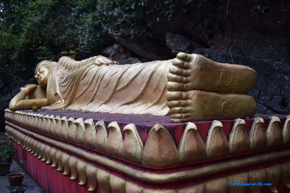 The statue of lying Buddha Luang Prabang